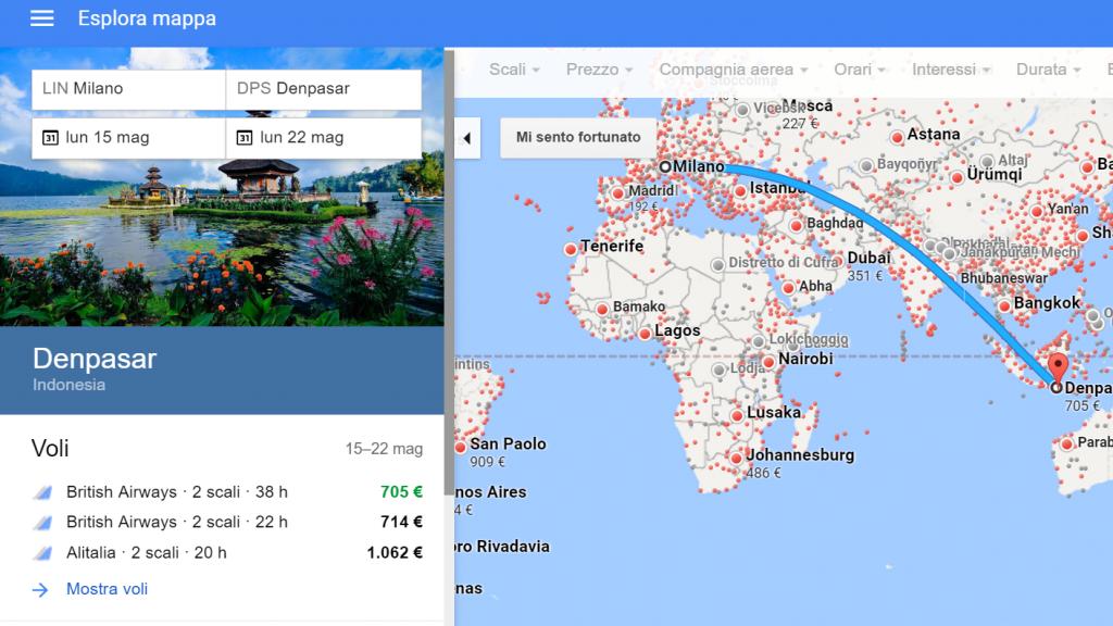 Google Flights ricerca