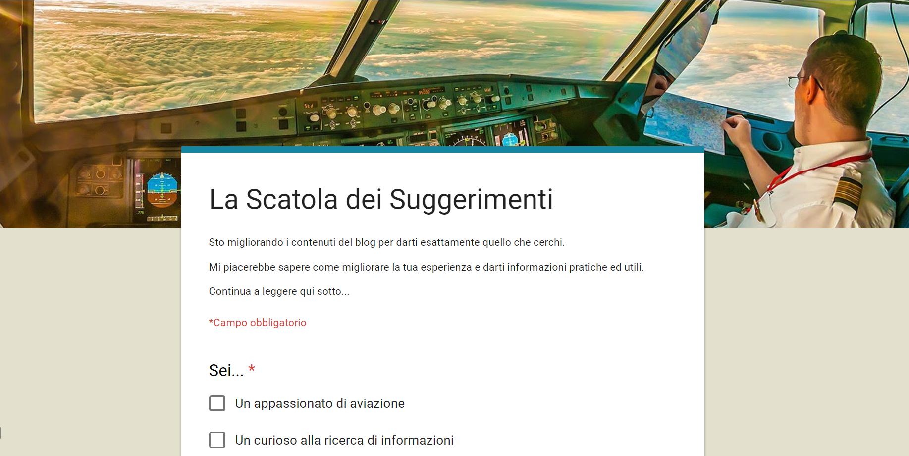 blog di aviazione