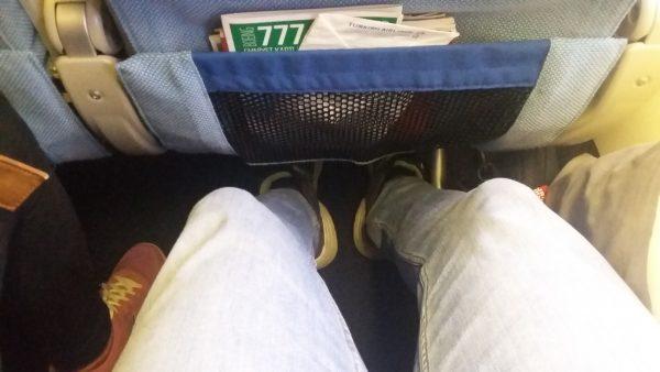 turkish airlines spazio gambe