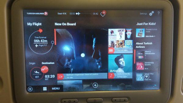 turkish airlines intrattenimento di bordo