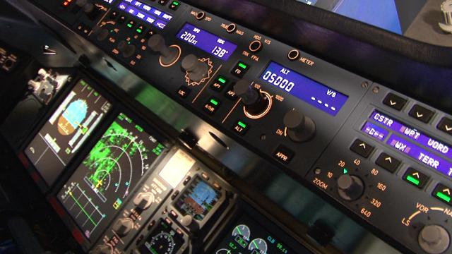 pulsanti in aereo di linea