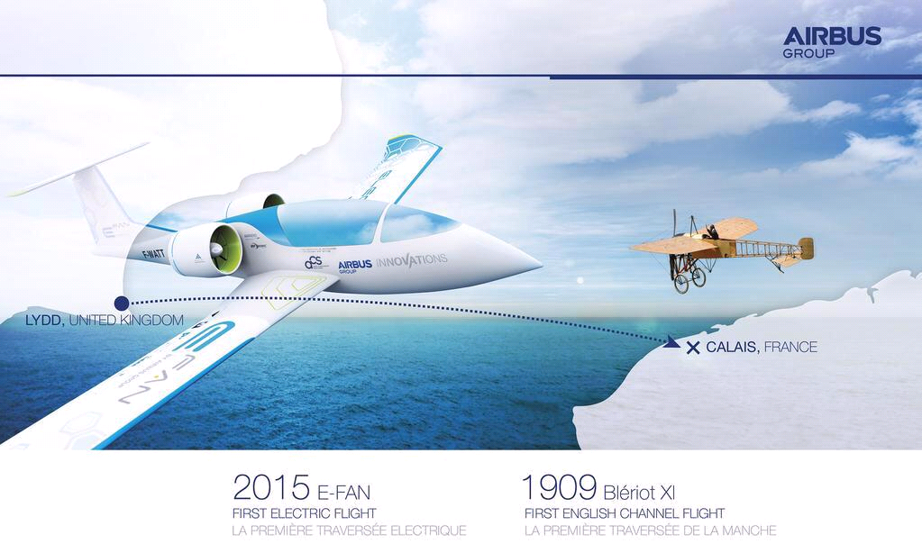 Airbus E-Fan-cross-Channel