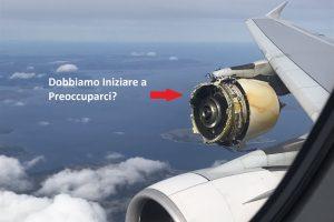 motore air france esploso in volo