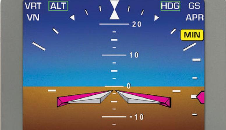 orizzonte artificiale aereo