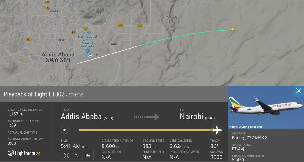 ET302 incidente aereo