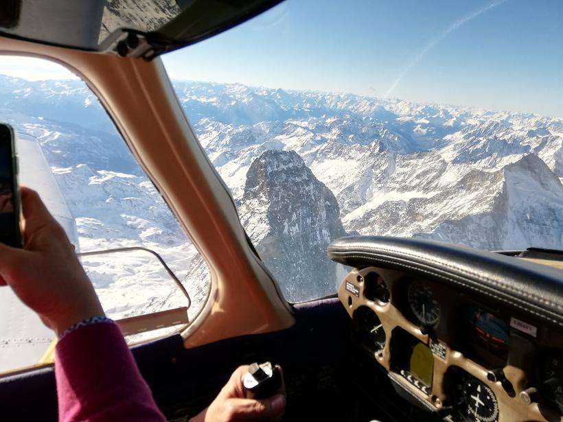 Cervino in aereo
