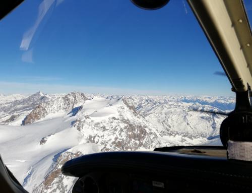 Volare sul Monte Rosa a 15500ft