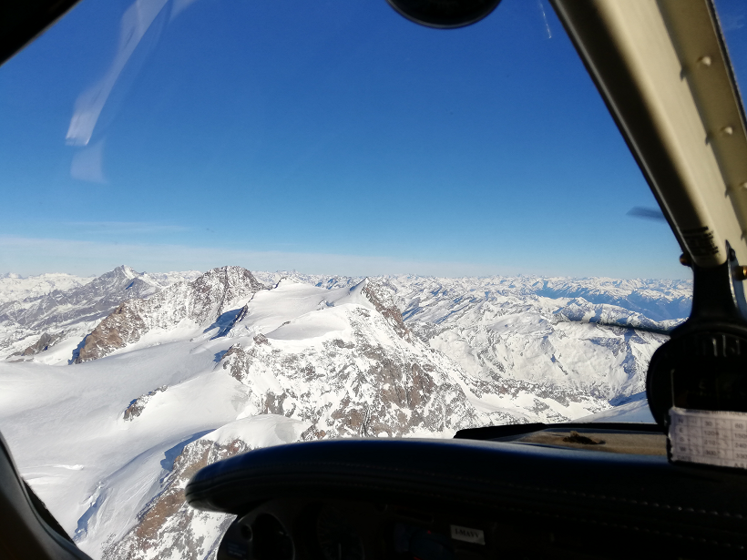 monte rosa in aereo